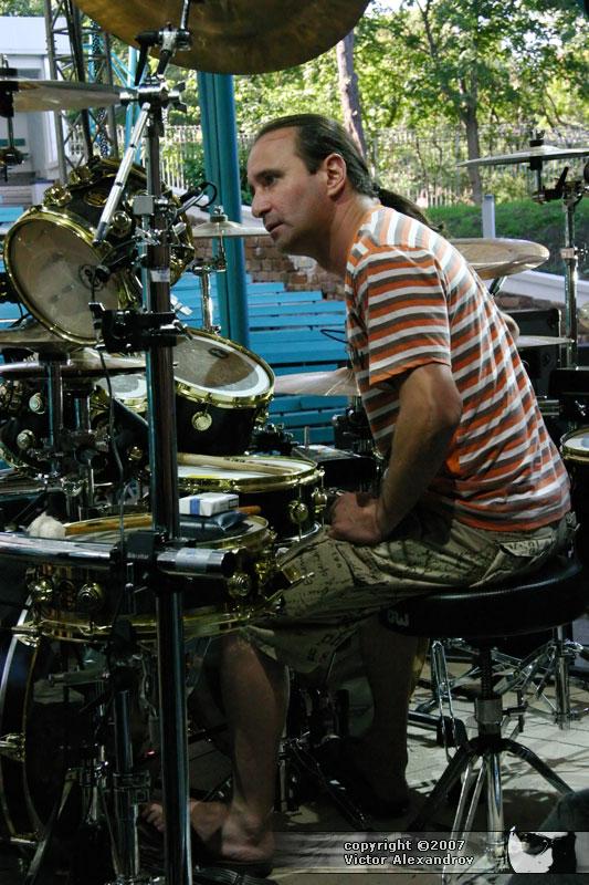 Hadad on drums